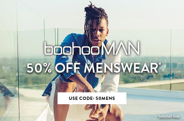 Boohoo Boohoo: 50% off menswear
