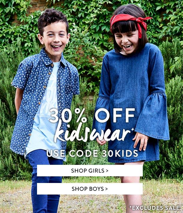 Boohoo Boohoo: 30% off kidswear
