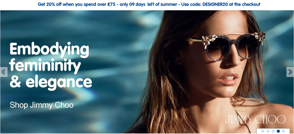 Boots Designer Sunglasses: 20% off when you spend over £75