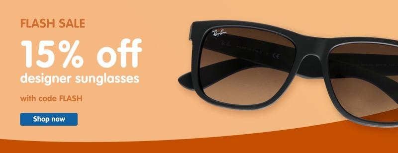 Boots Designer Sunglasses: 15% off designer sunglasses