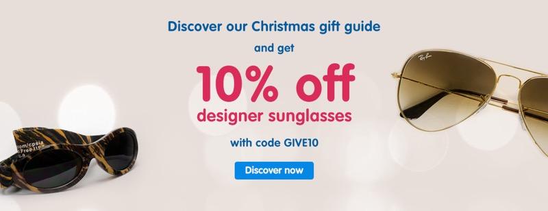 Boots Designer Sunglasses: 10% off designer sunglasses