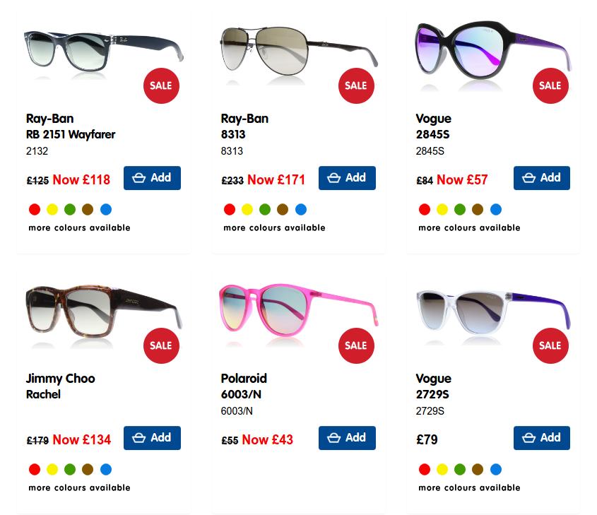 Boots Designer Sunglasses: Sale up to 50% off sunglasses