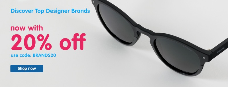 Boots Designer Sunglasses: 20% off designer brands sunglasses