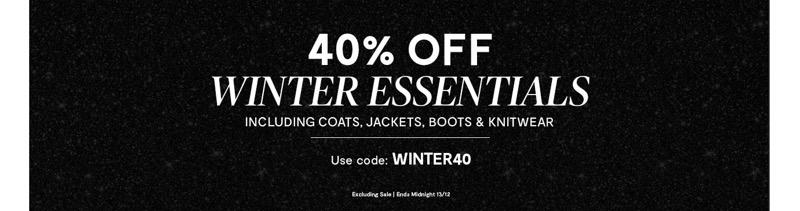 Brand Attic: 40% off winter esssentials