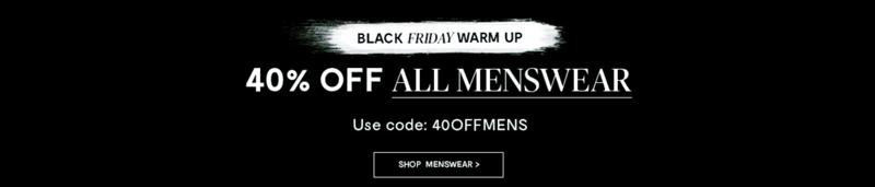 Black Friday Brand Attic: 40% off menswear