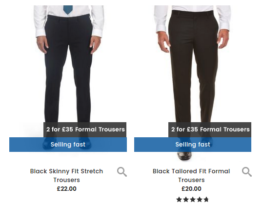 Burton Burton: 2 mens formal trousers for £35