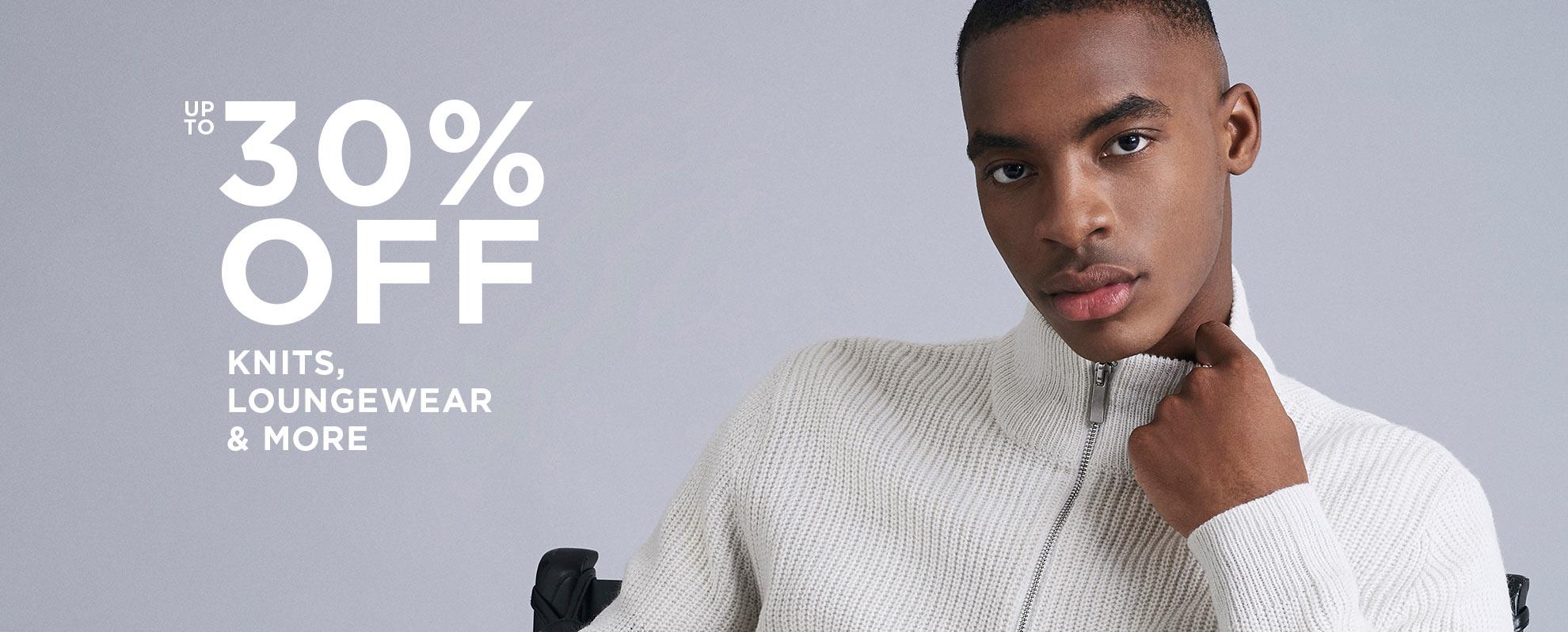 Burton: up to 30% off knits, loungewear & more men's clothing
