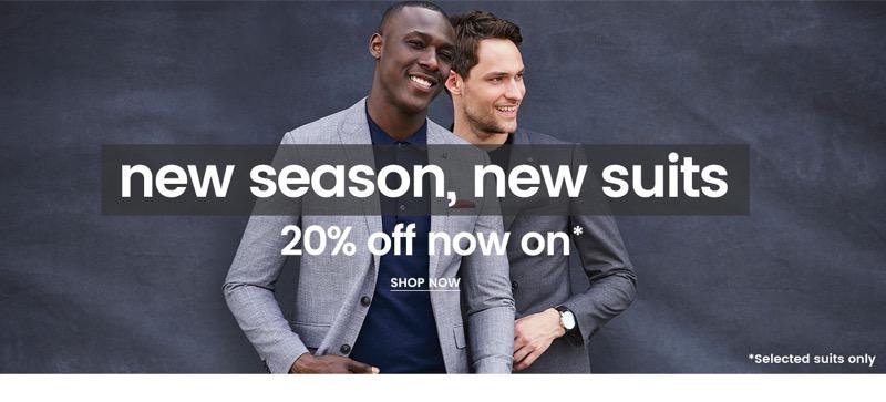 Burton: 20% off men's suits
