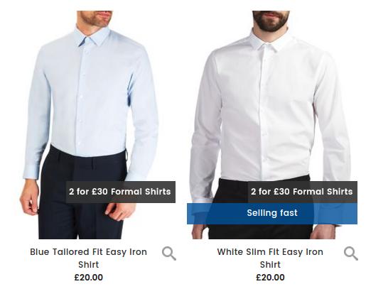 Burton Burton: 2 formal shirts for £30