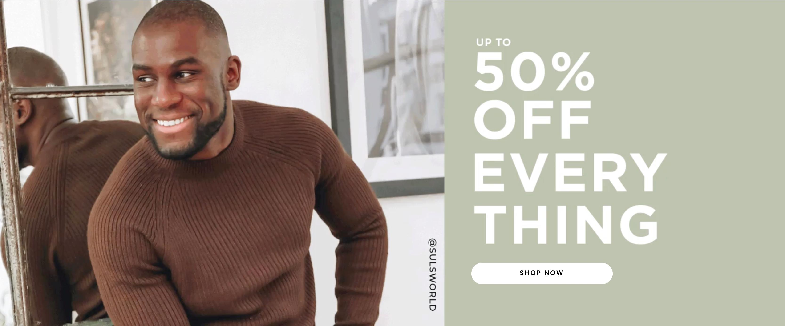 Burton: up to 50% off menswear