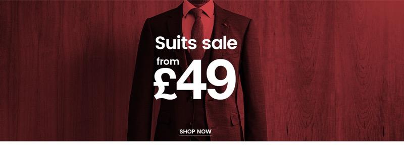 Burton Burton: Suits Sale from £49