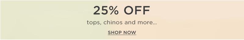 Burton: 25% off selected menswear