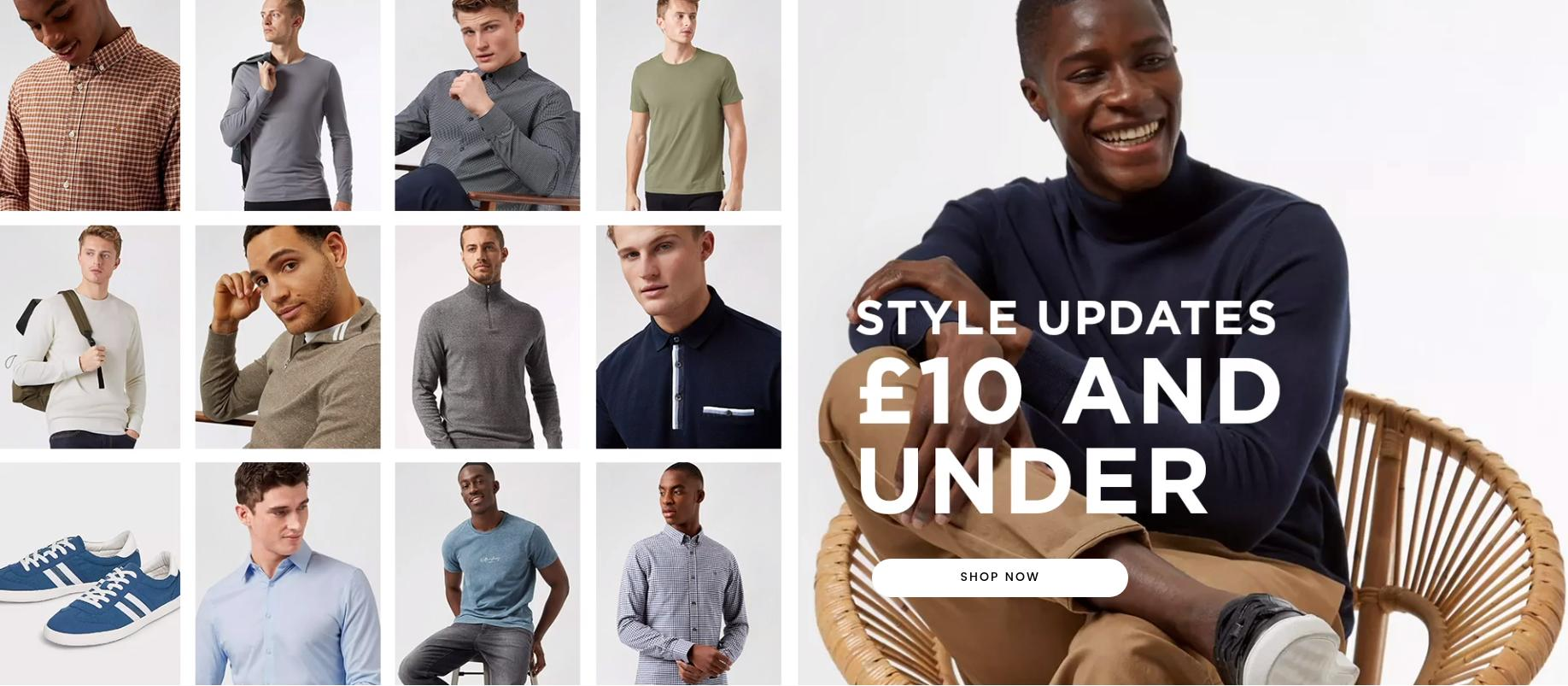 Burton: menswear for £10 and under