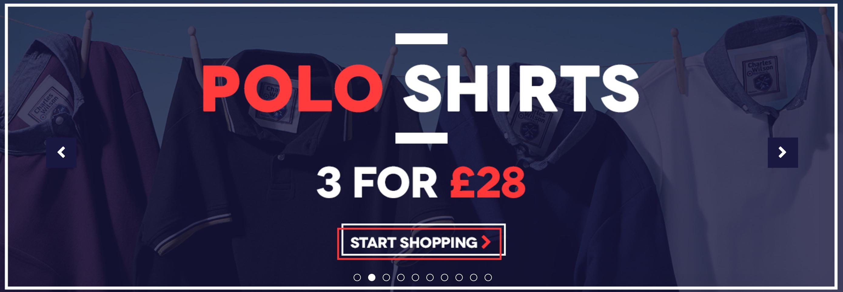 Charles Wilson Charles Wilson: 3 for £28 on polo shirts