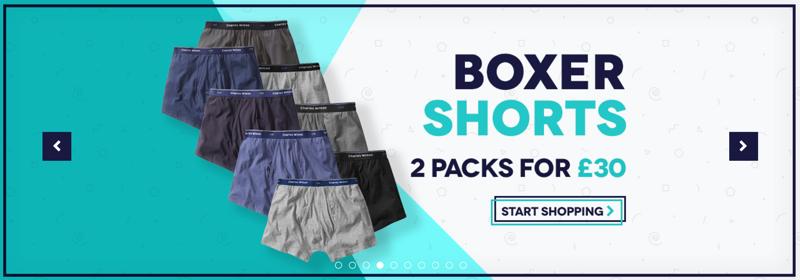 Charles Wilson Charles Wilson: 2 packs for £30 on boxer shorts