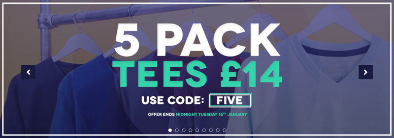 Charles Wilson Charles Wilson: 5 pack tees for £14