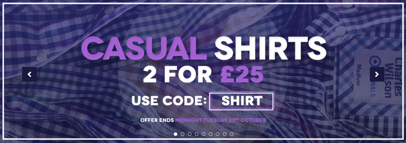 Charles Wilson: 2 casual shirts for £25