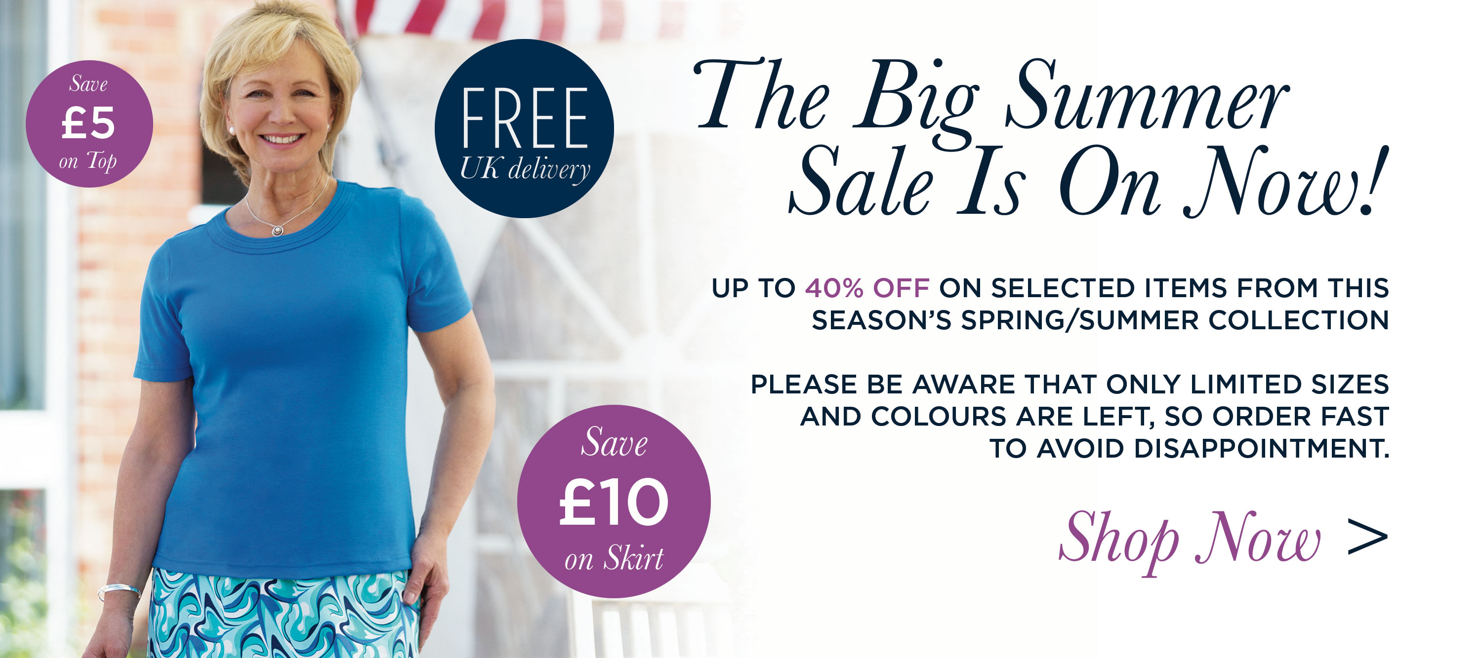 Carr and Westley: Sale up to 40% off spring/summer collection