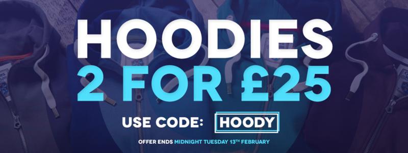 Charles Wilson: 2 hoodies for £25