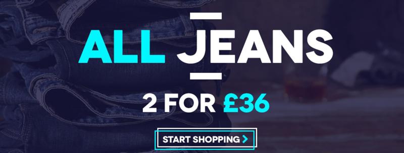 Charles Wilson Charles Wilson: 2 jeans for £36