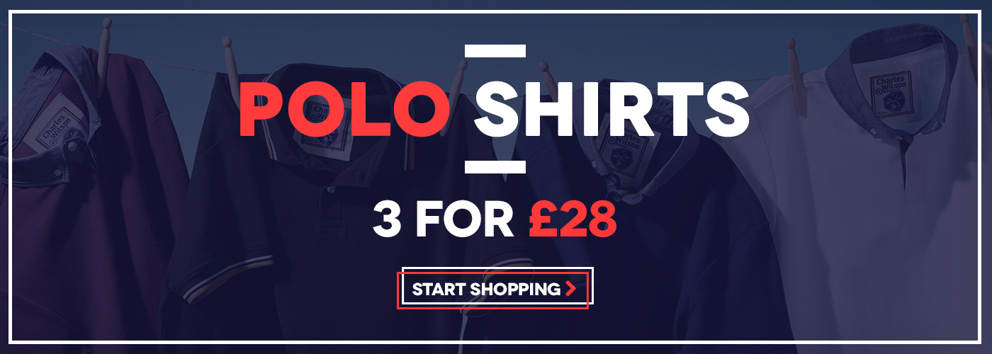 Charles Wilson Charles Wilson: 3 polo shirts for £28