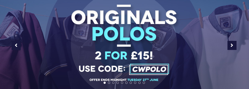Charles Wilson Charles Wilson: 2 for £15 on polos