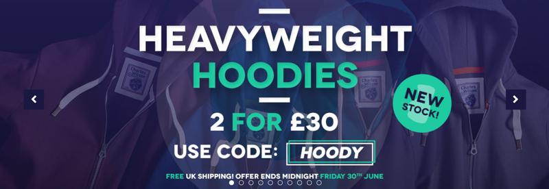Charles Wilson Charles Wilson: Sale 2 for £30 off heavyweight hoodies