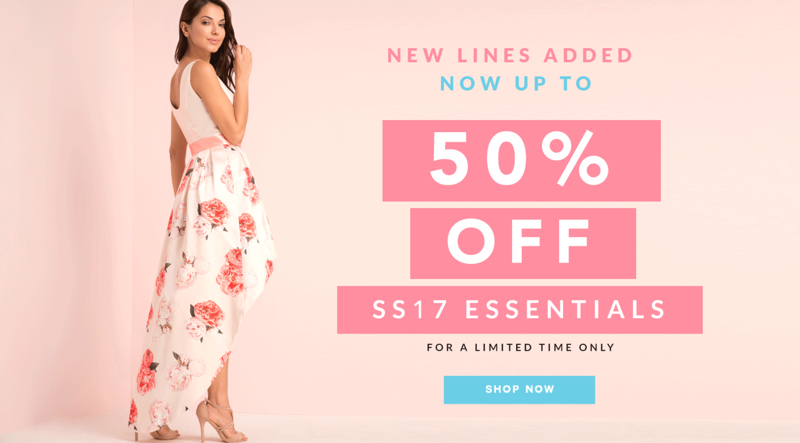 Chi Chi Chi Chi: up to 50% off spring-summer 2017 essentials