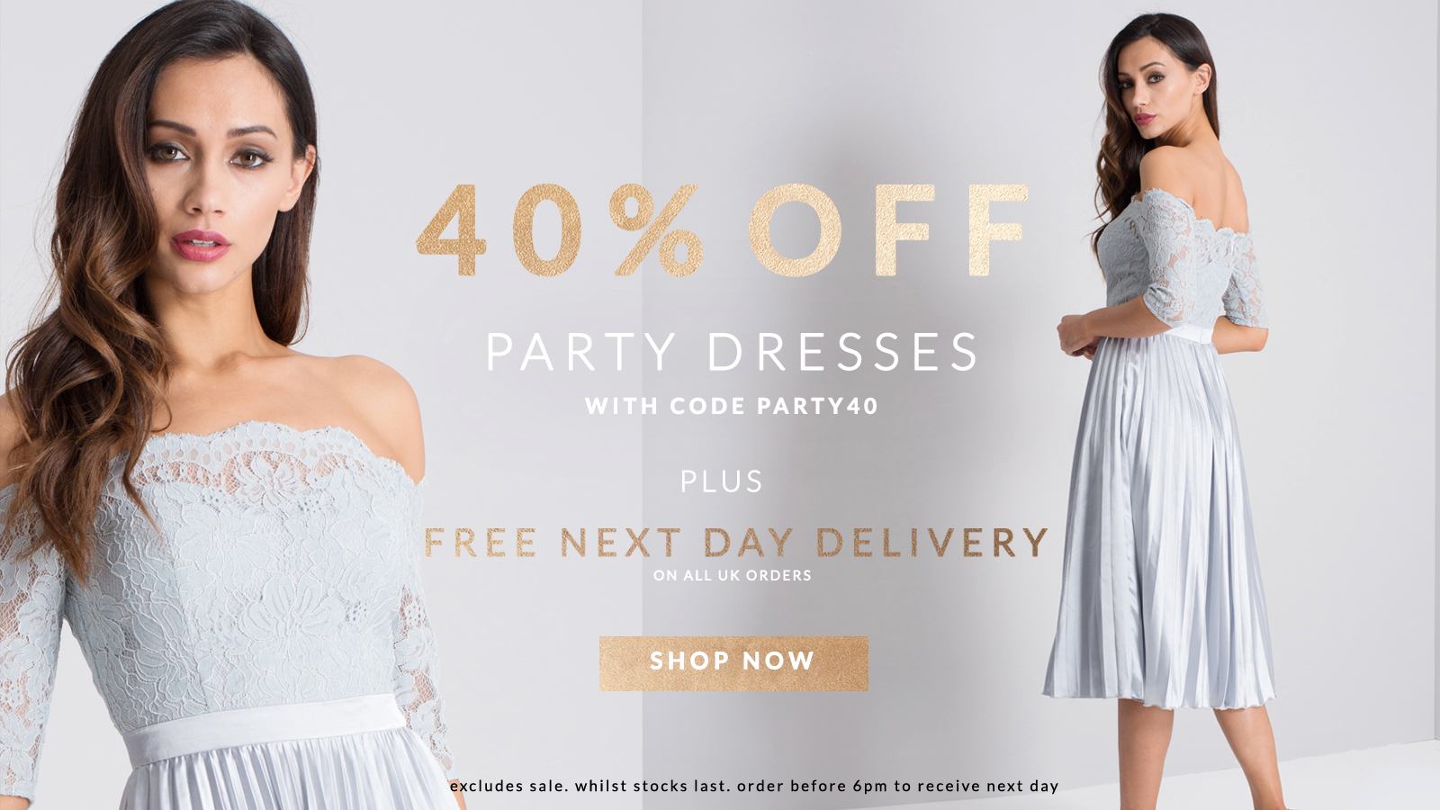Chi Chi: 40% off party dresses
