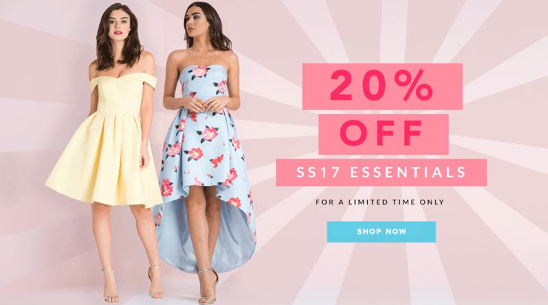 Chi Chi: 20% off spring-summer 2017 essentials