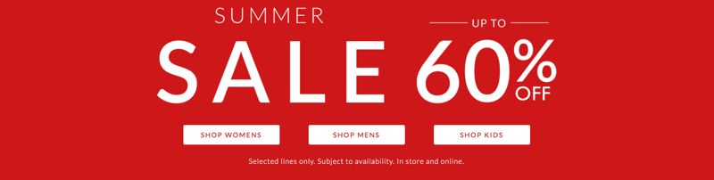 Clarks: Summer Sale up to 60% off womens, mens and kids shoes