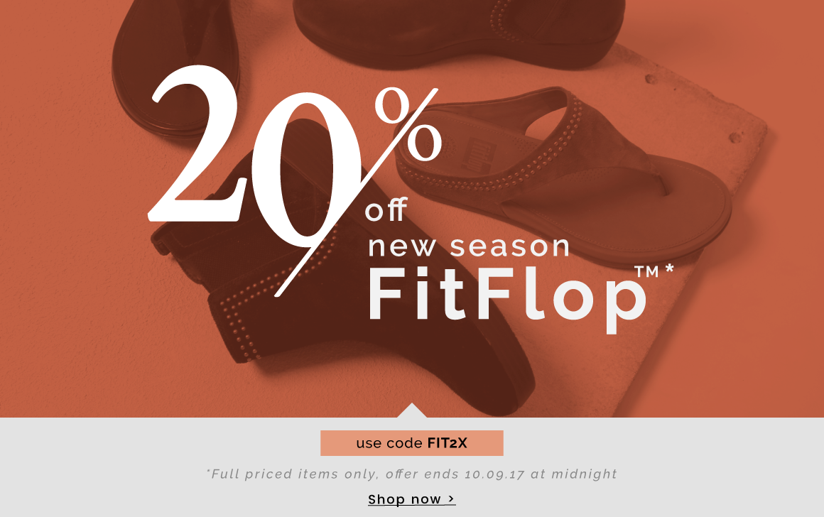 Cloggs: 20% off new season FitFlop
