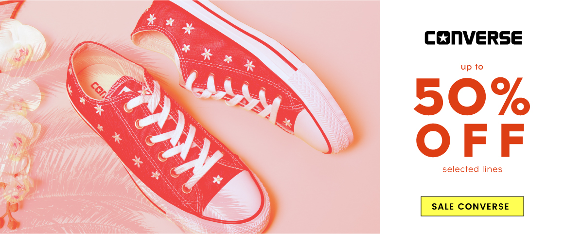Cloggs Cloggs: Sale up to 50% off Converse