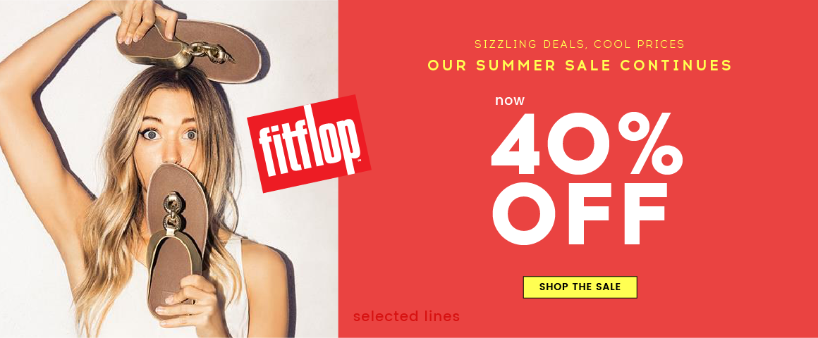Cloggs: Summer Sale up to 40% off fitflops