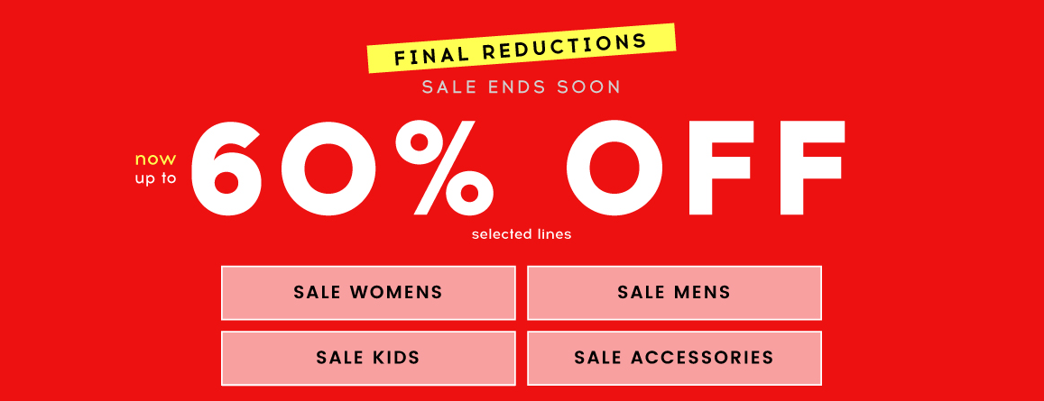 Cloggs: up to 60% off footwear and accessories for womens, mens and kids