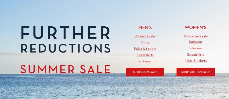 Crew Clothing Crew Clothing: Summer Sale up to 50% off women's and men's clothing