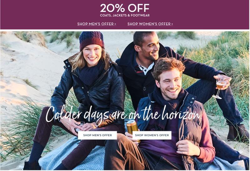 Crew Clothing Crew Clothing: 20% off coats, jackets & footwear