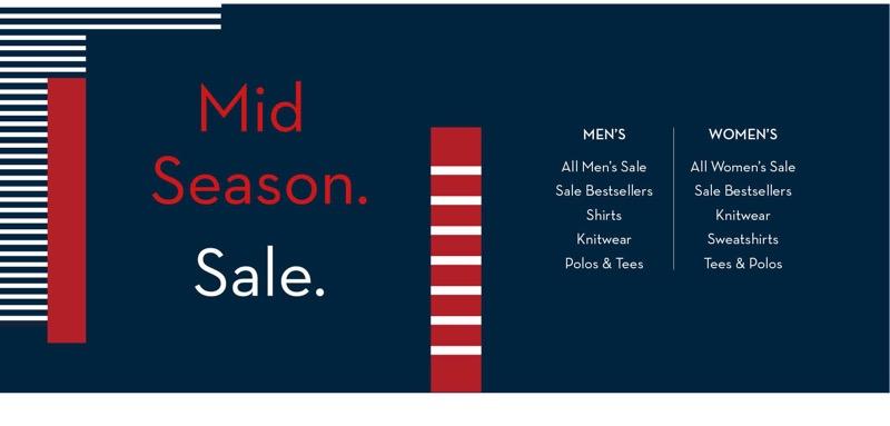 Crew Clothing Crew Clothing: Mid Season Sale 20% off women's and men's fashion