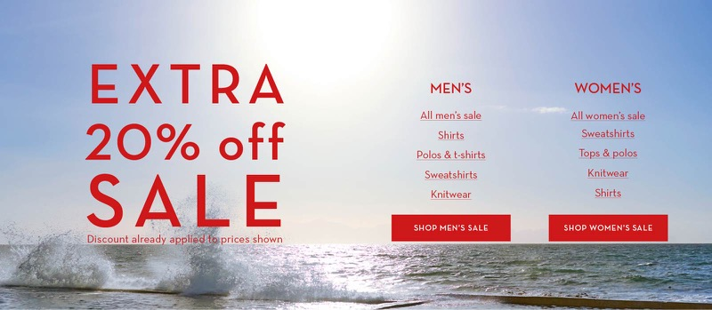Crew Clothing Crew Clothing: extra 20% off women's and men's sale