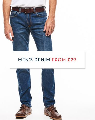 Crew Clothing Crew Clothing: men's denim from £29