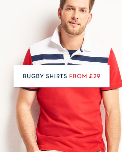 Crew Clothing Crew Clothing: rugby shirts from £29