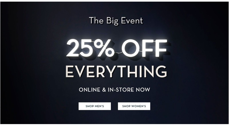 Black Friday Crew Clothing: 25% off everything