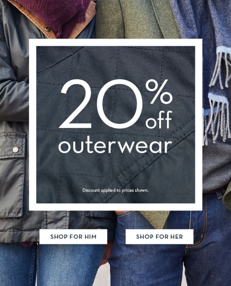 Crew Clothing Crew Clothing: 20% off outerwear