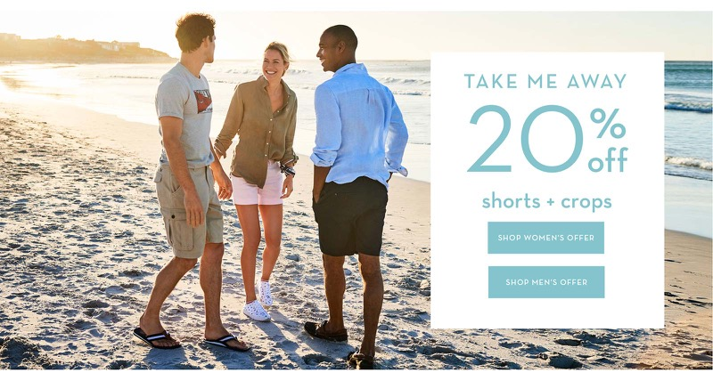 Crew Clothing Crew Clothing: 20% off shorts and crops
