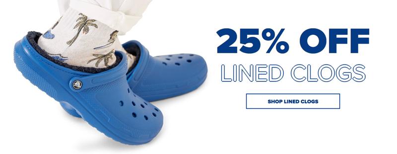Crocs Crocs: 25% off lined clogs