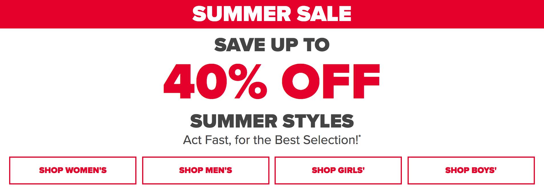 Crocs Crocs: Summer Sale up to 40% off summer styles