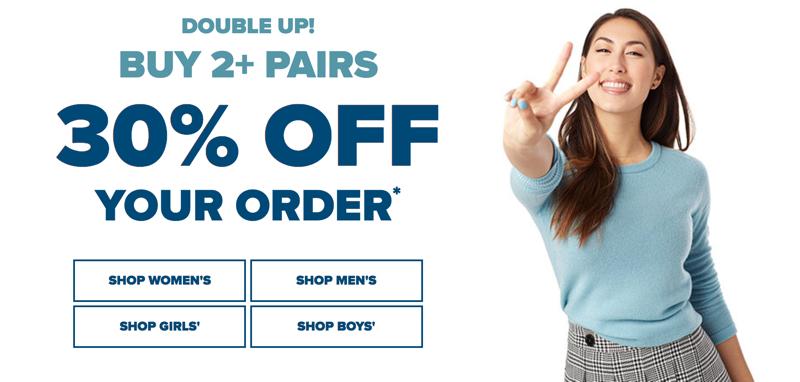 Crocs Crocs: buy 2 + pairs 30% off your order