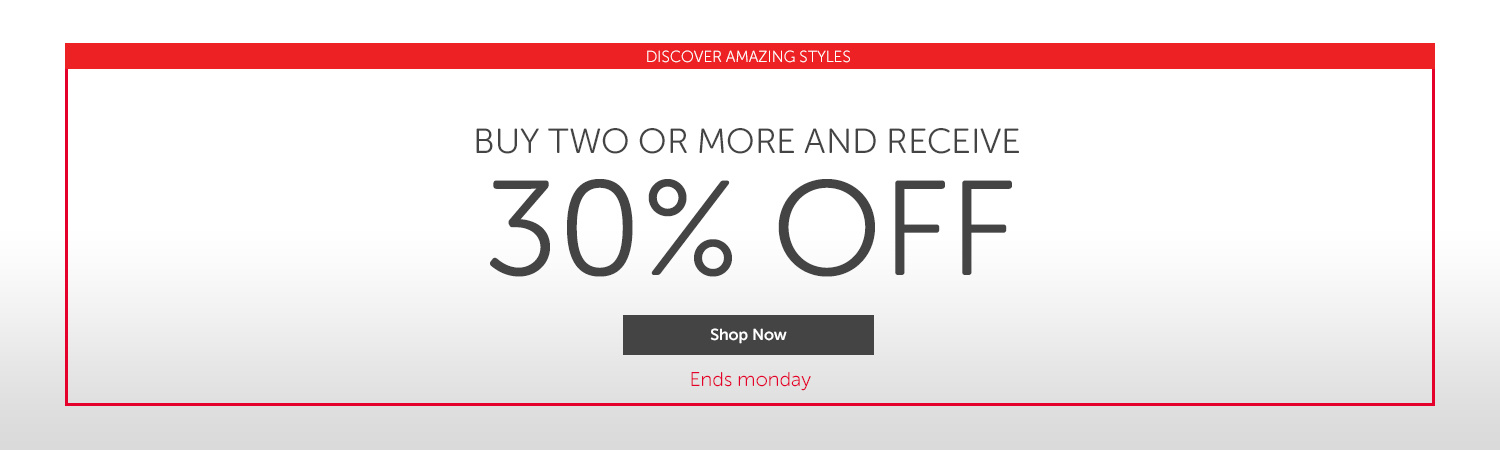 Crocs: 30% off for two or more products