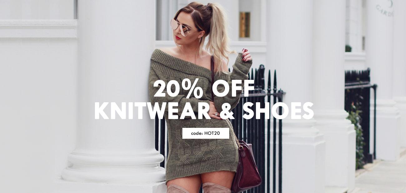Lasula: 20% off knitwear & shoes