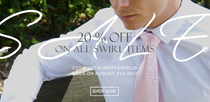 DQT: 20% off on all swirl patterned ties